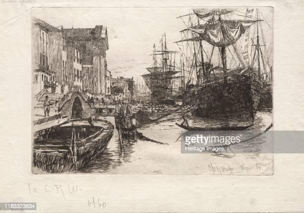 View in Venice, 1880. Creator Jules Dupré .