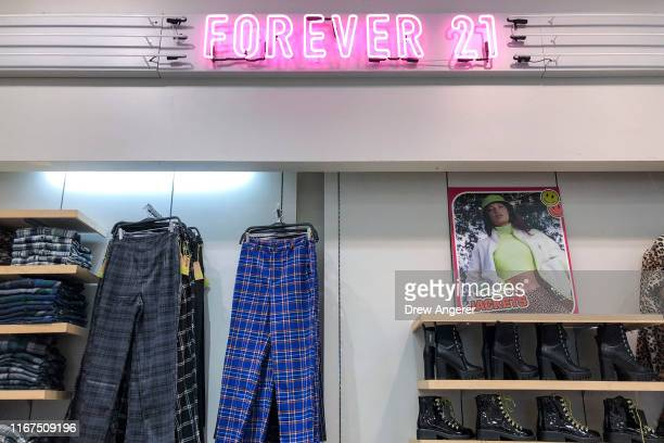 View inside a Forever 21 store in Union Square in Manhattan on September 12, 2019 in New York City. The Wall Street Journal reported that the retail...
