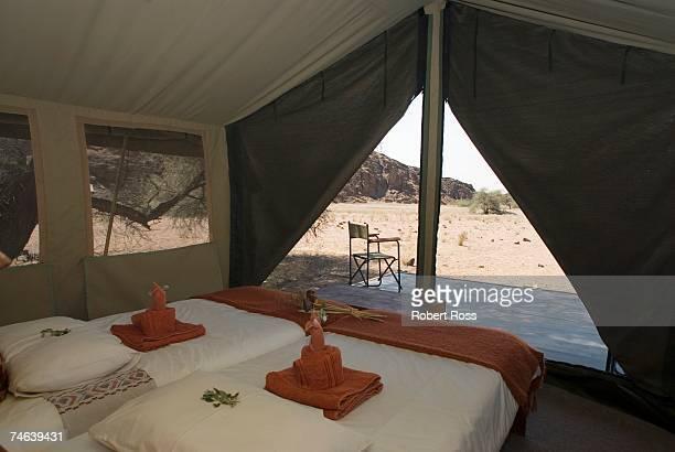 View Inside a Luxury Safari Tent