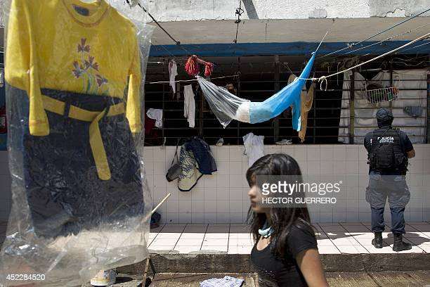 View inside 'La Gran Familia' shelter where more than 48 hours ago police rescued 596 people including 458 children in Zamora Michoacan State Mexico...