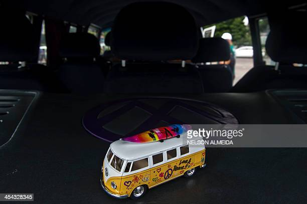 View inside of a Kombi during an exhibition at the Volkswagen plant in Sao Bernardo do Campo southern Sao Paulo Brazil on December 8 2013 VW's Kombi...