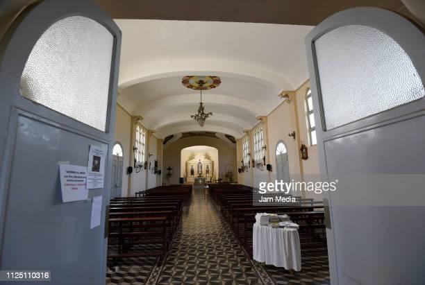 View inside of Progreso town Church where Emiliano Sala's funeral will take place on February 15 2019 in Progreso Argentina 28yearold striker was...
