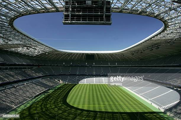 A view Inside of the Allianz Football Arena in Munich Germany May 12 2005