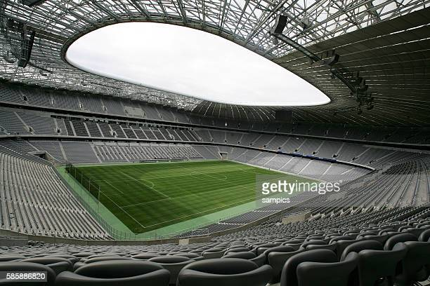 A view Inside of the Allianz Football Arena in Munich Germany May 3 2005