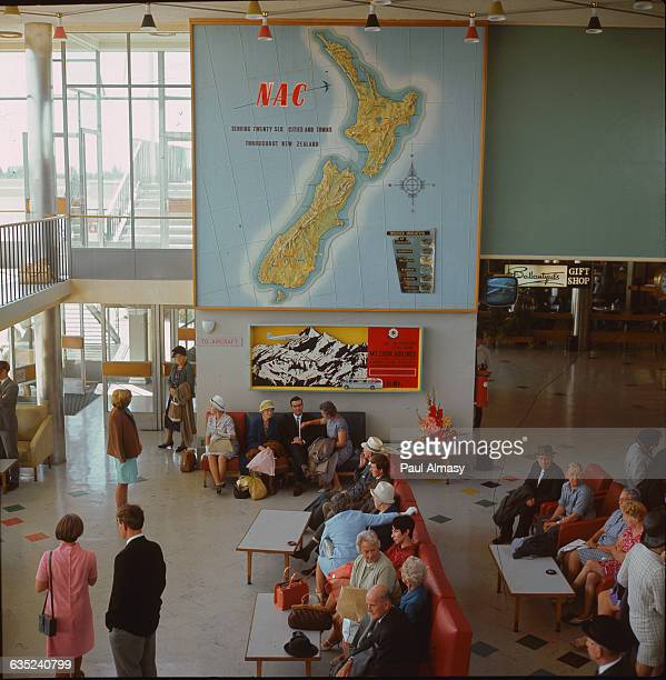 A view inside the airport in Auckland New Zealand 1968