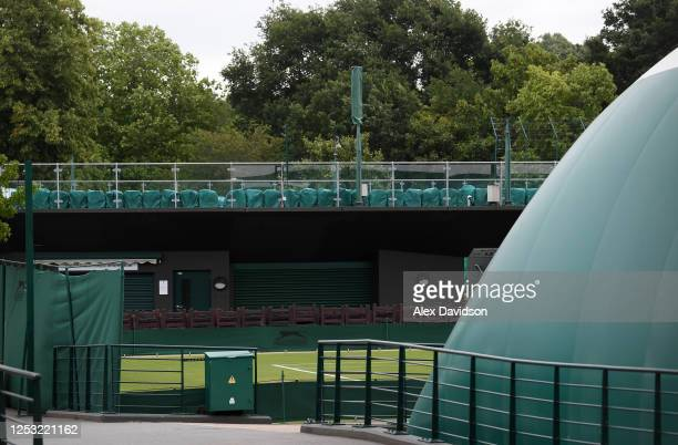 A view inside The All England Tennis and Croquet Club on June 29 2020 in Wimbledon England The Wimbledon Tennis Championships were due to start today...