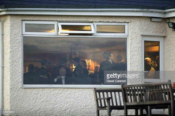 View inside the clubhouse during the 2003 Presidents Putter annual knockout tournament for past Oxford and Cambridge University Golfers at Rye Golf...