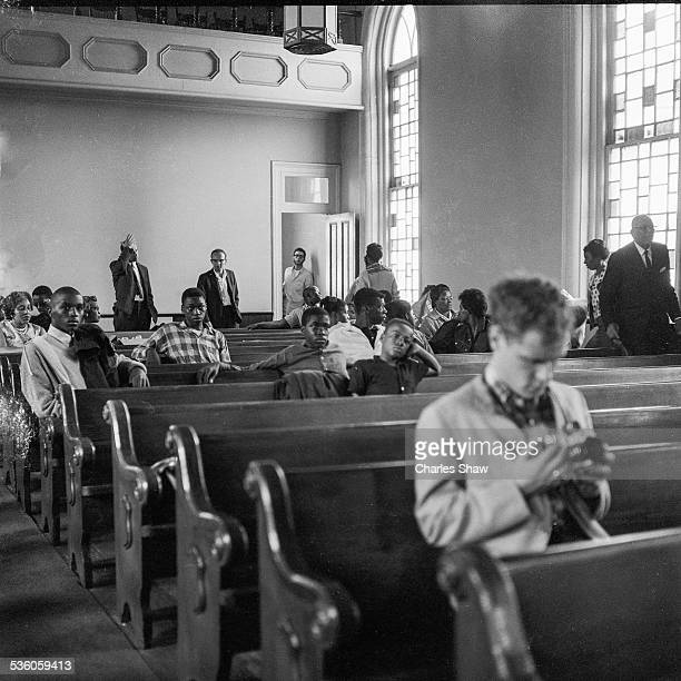 View inside the Dexter Avenue Baptist Church on the day before the Selma to Montogmery March arrived at the Alabama State Capitol Montgomery Alabama...