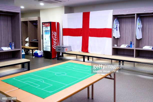 A view inside the dressing room of England before the FIFA U20 World Cup Korea Republic 2017 Semi Final match between Italy and England at Jeonju...