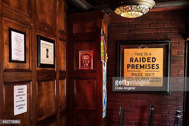 A view inside the front entrance at the Stonewall Inn on June 24 2016 in New York City President Barack Obama designated the Stonewall Inn and...