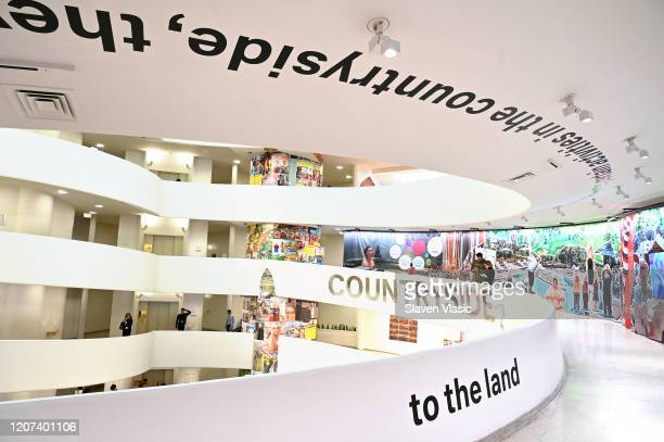 A view inside the gallery as Lavazza continues to grow partnership with The Solomon R Guggenheim Museum in New York supporting the latest exhibition...