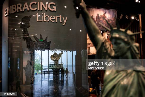 A view inside the new Statue of Liberty Museum May 13 2019 on Liberty Island in New York City The new museum that celebrates the history and legacy...