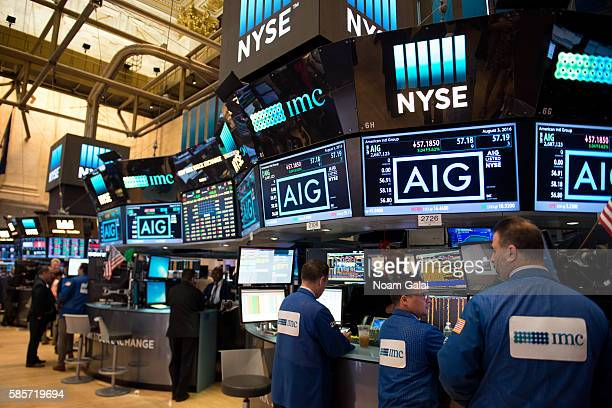 View inside the New York Stock Exchange on August 3, 2016 in New York City.