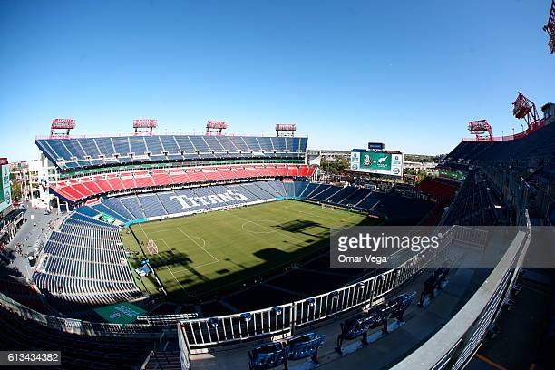 A view inside the Nissan Stadium prior the International Friendly Match between Mexico and New Zealand at Nissan Stadium on October 08 2016 in...