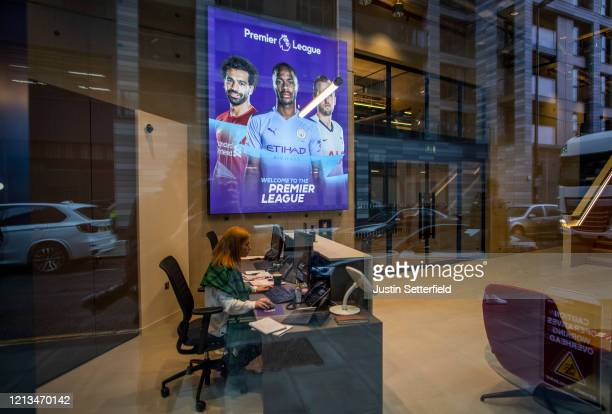 View inside the Premier League Head Quarters on March 19, 2020 in London, England. Premier League clubs and officials are meeting today to discuss...