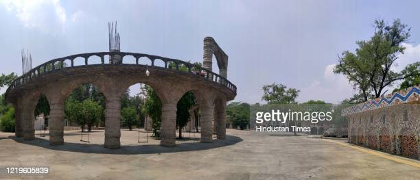 A view inside the Rock Garden of Chandigarh on the occasion of late Padma Shri Nek Chands fifth death anniversary on June 12 2020 in Chandigarh India...
