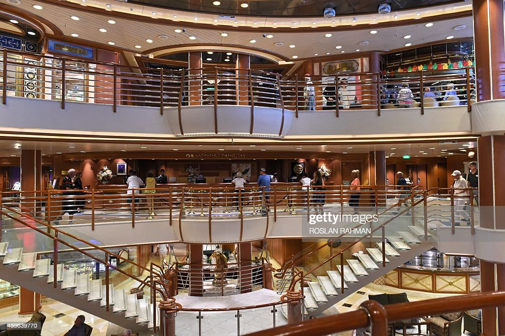 A View Inside The Sapphire Princess Cruise Ship Docked At The - Inside of cruise ships pictures