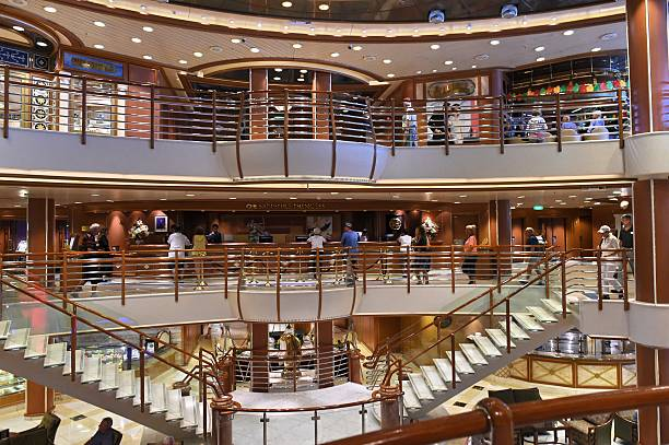 A View Inside The Sapphire Princess Cruise Ship Docked At