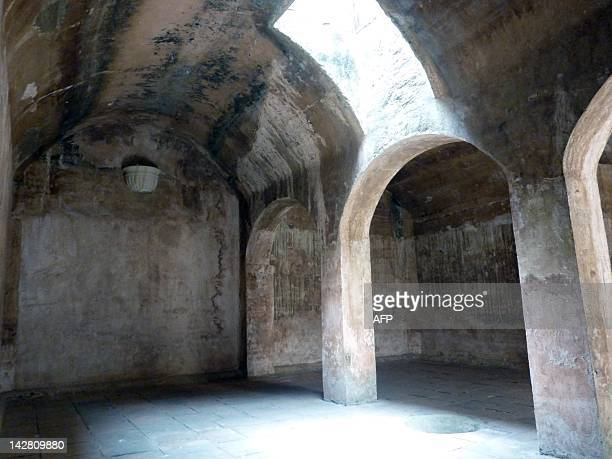 View inside the socalled El Aljibe where heretics were imprisoned at the Inquisition Museum in Cartagena Colombia on April 12 2012 The Spanish...