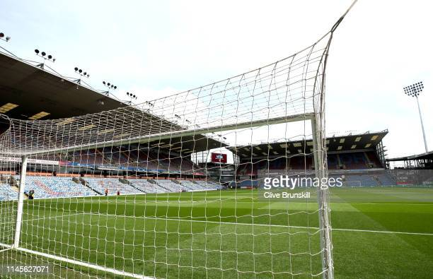 A view inside the stadium ahead of the Premier League match between Burnley FC and Manchester City at Turf Moor on April 28 2019 in Burnley United...