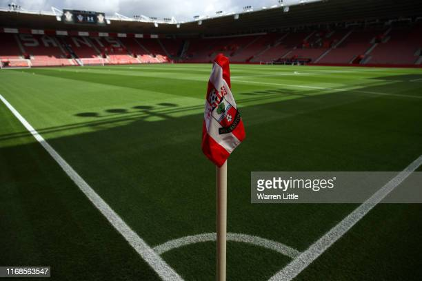 View inside the stadium ahead of the Premier League match between Southampton FC and Liverpool FC at St Mary's Stadium on August 17, 2019 in...
