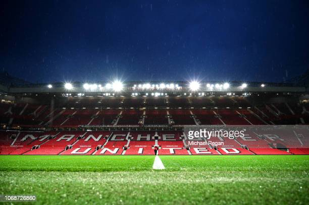 A view inside the stadium ahead of the Premier League match between Manchester United and Arsenal FC at Old Trafford on December 5 2018 in Manchester...