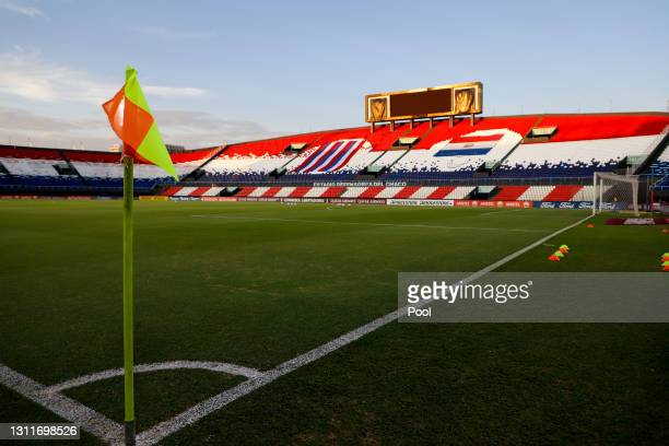 View inside the stadium prior a third round first leg match between Independiente del Valle and Gremio as part of Copa CONMBEOL Libertadores at...