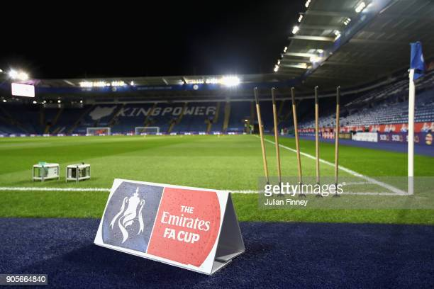 A view inside the stadium prior to The Emirates FA Cup Third Round Replay match between Leicester City and Fleetwood Town at The King Power Stadium...