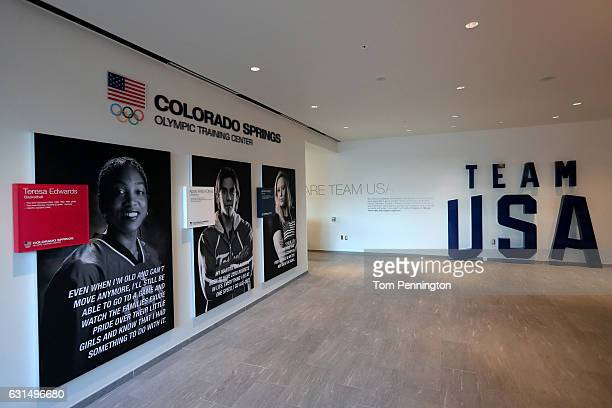 A view inside the vistor center at the United States Olympic Training Center on May 14 2015 in Colorado Springs Colorado