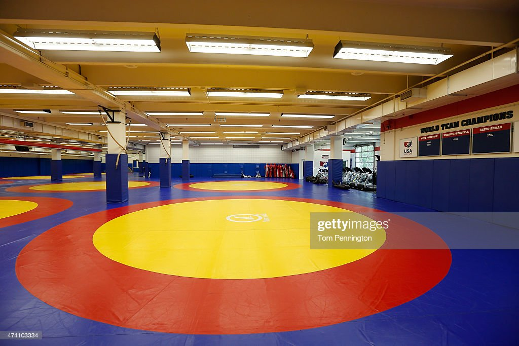 Inside the United States Olympic Training Center in Colorado Springs : News Photo