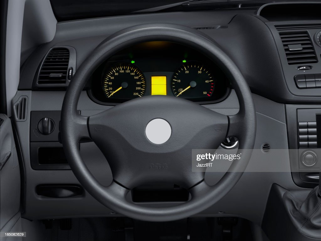 View Interior Car Of A Modern Automobile Showing Dashboard Stock ...