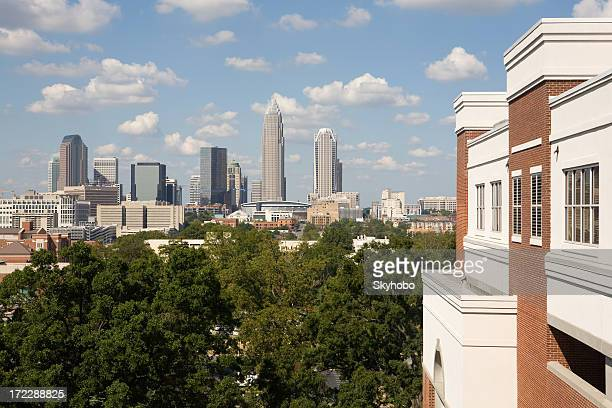 view into charlotte - charlotte north carolina stock photos and pictures