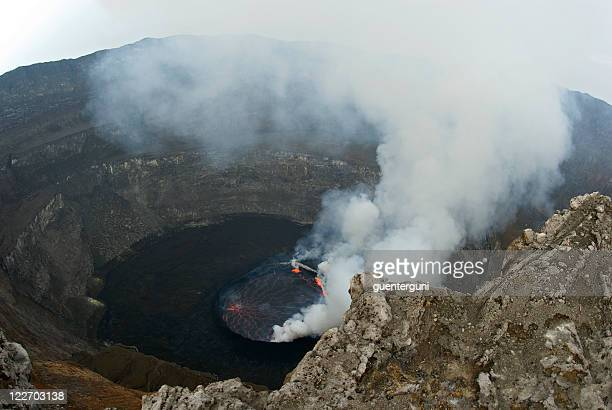 view into the heart of earth - virunga national park stock pictures, royalty-free photos & images