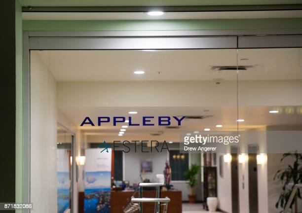 A view into the lobby of the building that houses the Appleby law firm offices November 8 2017 in Hamilton Bermuda In a series of leaks made public...