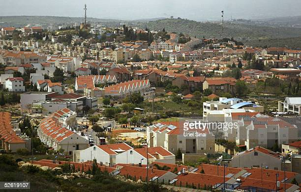 A view is seen April 12 2005 of the Israeli settlement of Ariel in the West Bank US President George W Bush warned Israel against expanding any of...