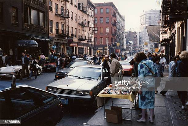 View lookiing east along Spring Street New York New York March 29 1987