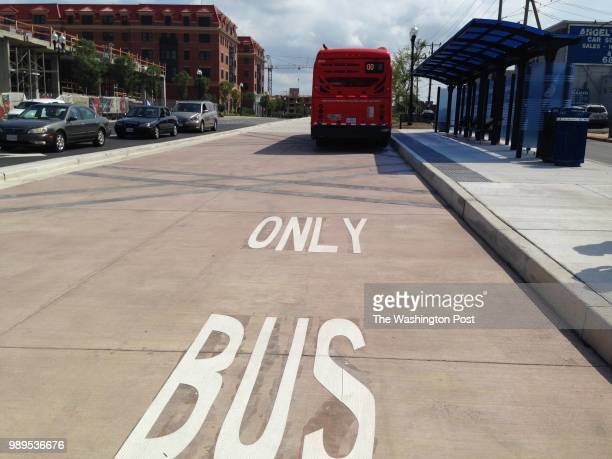 ALEXANDRIA VA AUGUST A view looking at the Metroway dedicated lane on Route 1 in Alexandria Virginia August 19 2014 Metro is launching the Metroway...