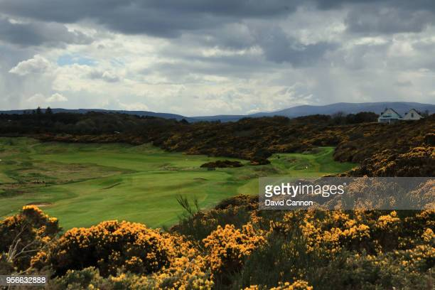 A view looking back from the green of the par 3 sixth hole at Royal Dornoch Golf Club on May 3 2018 in Dornoch Scotland