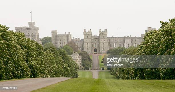 A view looking down he long walk to Windsor Castle is seen on May 14 2005 in Windsor England