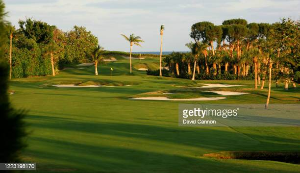 View looking down the par 4, 12th hole with the par 3, 13th hole behind at Seminole Golf Club on November 29, 2004 in Juno Beach, Florida.