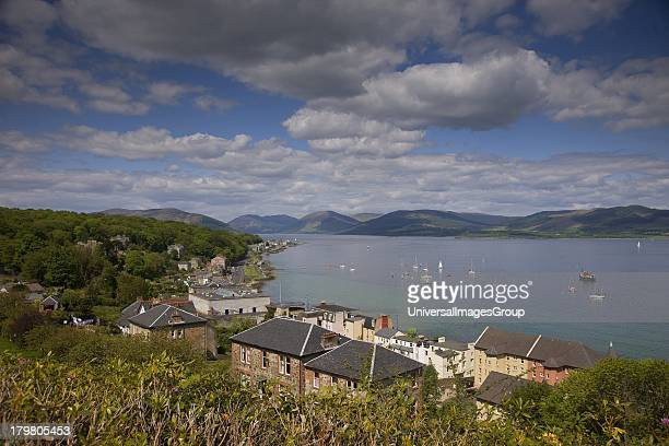 View looking east from Rothesay Isle of Bute Scotland United Kingdom