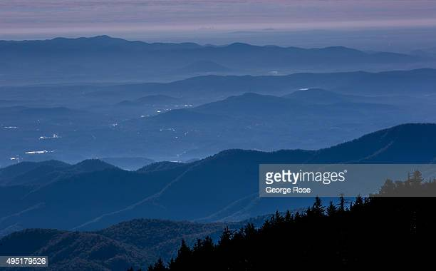 A view looking east from the Blue Ridge Parkway is taken on October 6 2015 near Asheville North Carolina Named one of the 'Top 10 Great Places to...