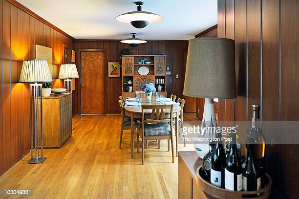 A view looking into the dining room of Patrick Naughten and his family's midcentury house winner of the Post's Mad Men design contest on July 2010 in...