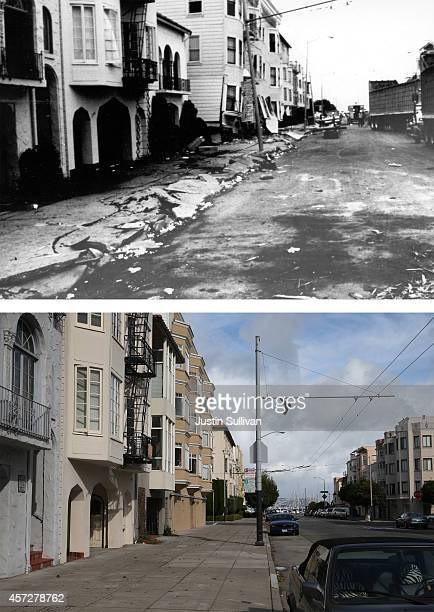View looking north on Divisadero Street on October 15, 2014 in San Francisco, California. It has been 25 years since the 7.0 Loma Prieta earthquake...