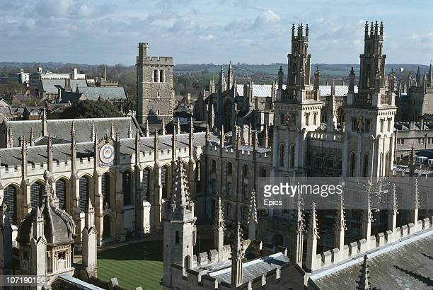 A view looking northeast to All Souls' College part of Oxford University Oxford April 1989