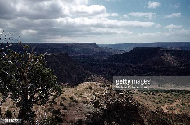 A view looking over the Palo Duro Canyon in Palo Duro State Park near Amarillo Texas