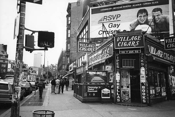 View looking south along 7th Avenue , New York, New...