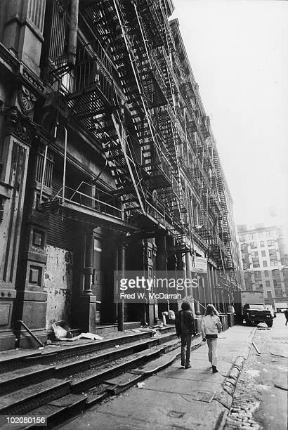 View looking south along Greene Street New York New York October 9 1969