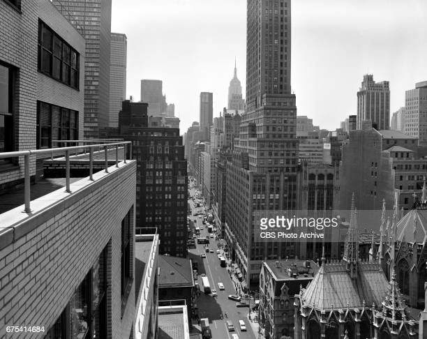 View looking south down Madison Avenue from Merle Jones office an upper floor of CBS headquarters 485 Madison Avenue New York NY View includes the...