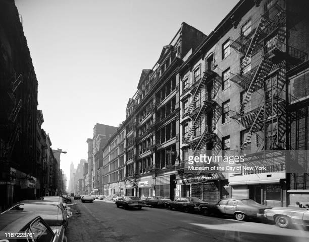 View looking south on Broadway between Spring and Broome Streets New York New York circa 1977